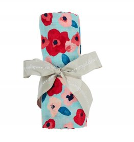 Bamboo Swaddle Blanket- Poppies