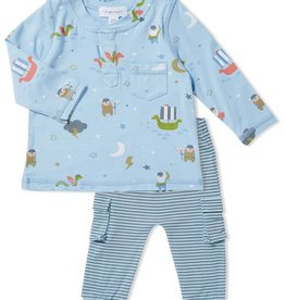 Little Viking Henley Top and Pant Set