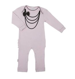 "Kushies Kushies Pink ""Black Necklace"" Playsuit"