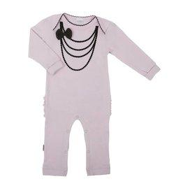 "Kushies Pink ""Black Necklace"" Playsuit"