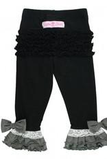 Black Contrast Legging and Top Set 4T