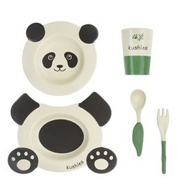 Kushies EcoClean Panda Tablewear Set