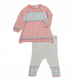 Angel Dear Angel Dear Llama Fair Isle Girls 2 Piece Set