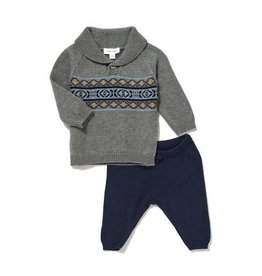 Angel Dear Angel Dear Viking Fair Isle Boys 2 Piece Set