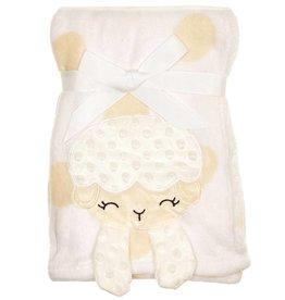 White Lamb Plush Baby Blanket