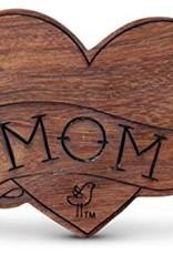 Finn & Emma Finn & Emma Wood Rattle Teether- Mom Tattoo