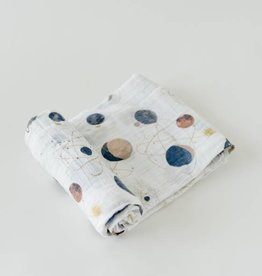 Little Unicorn Little Unicorn Cotton Muslin Swaddle- Planetarium