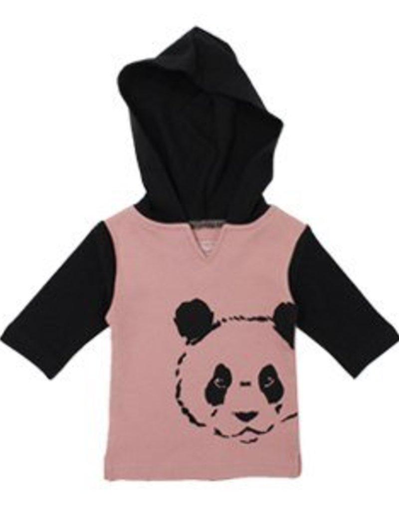 Organic Panda Hoodie and Pant Lounge Set- Muave- 9-12m