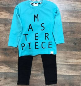 Masterpiece Top & Black Jeans Set