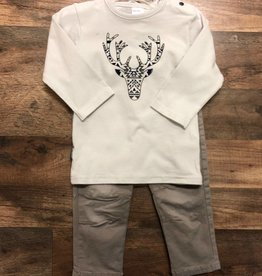 Grey Buck Tee & Pants 18m