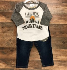 I Will Move Mountains Shirt & Jeans 12m