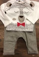 Boboli Knit Bear Shirt & Trousers Set