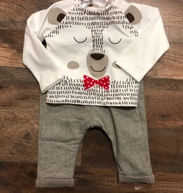 Boboli Knit Bear Shirt & Trousers Set