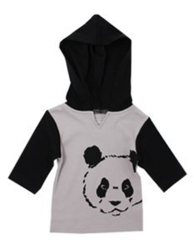Lovedbaby Lovedbaby Panda Hoodie And Pant Lounge Set- Light Grey