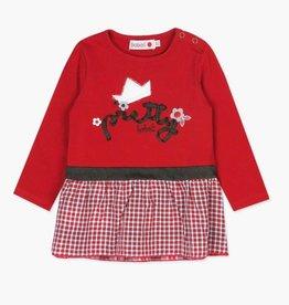 Boboli Pretty Plaid Red dress and tights set