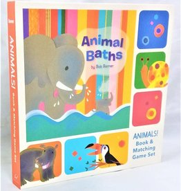 Animal Baths Book & Matching Game Set