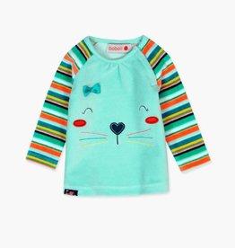 Boboli Cat Plush Velour Dress & Tights set