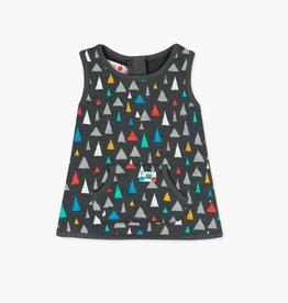 Boboli Boboli Triangle Velour Dress and Tights set