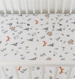 Little Unicorn Little Unicorn Cotton Muslin Crib Sheet- Forest Friends