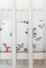 Little Unicorn Little Unicorn Cotton Muslin Crib Sheet- Forest Friends