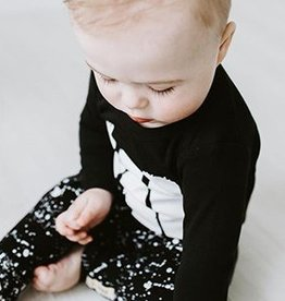 Lovedbaby Organic Little Artist Top and Pant Lounge Set- Black