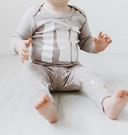 Lovedbaby Organic Little Artist Top and Pant Lounge Set- Grey