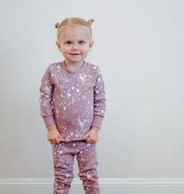 Lovedbaby Organic Paint the Town Long Sleeve PJ Set- Lavender