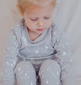 Lovedbaby Organic Paint the Town Long Sleeve PJ Set- Light Grey