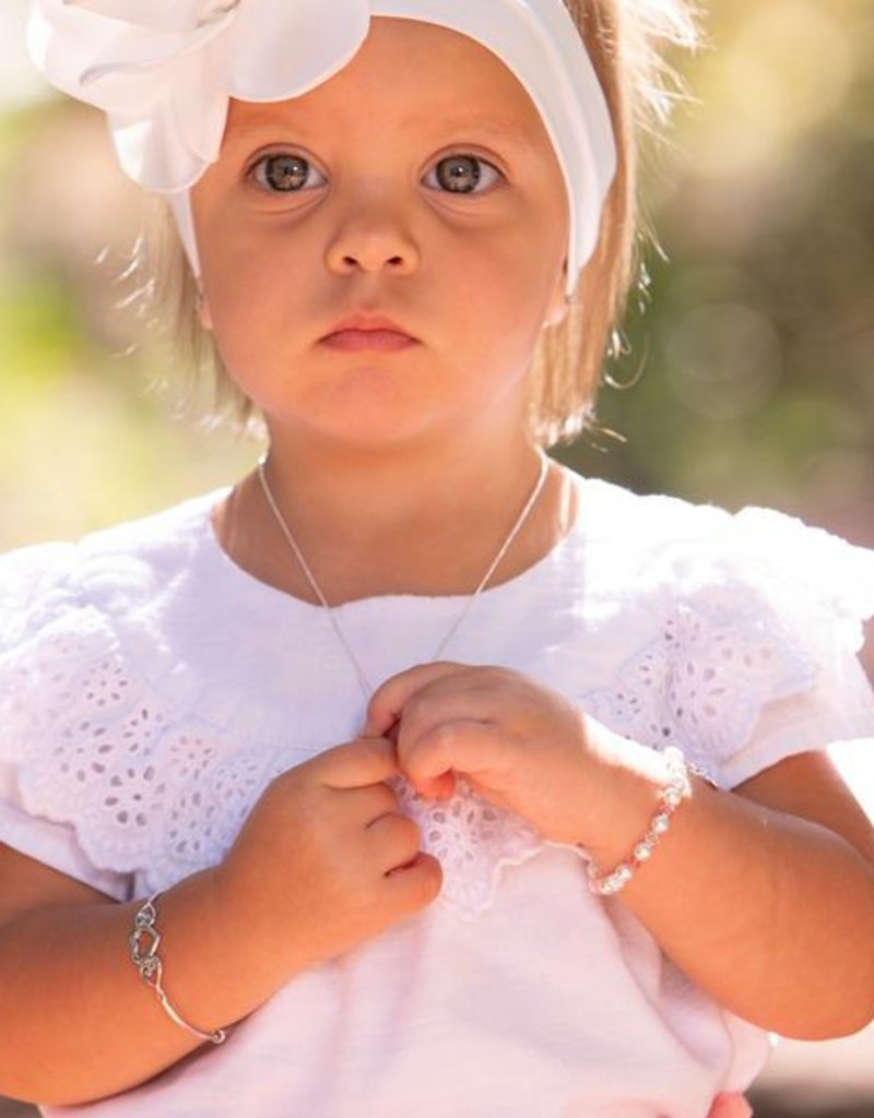 Bangle Heart (Adjustable) - Sterling Silver Infant Bracelet
