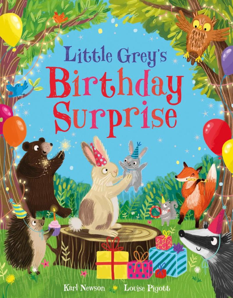 Parragon Little Grey's Birthday Surprise Hard Cover Book