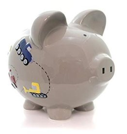 Gray Construction Piggy Bank