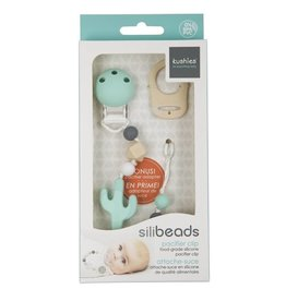 Kushies Silibeads Pacifier Clip- Cactus