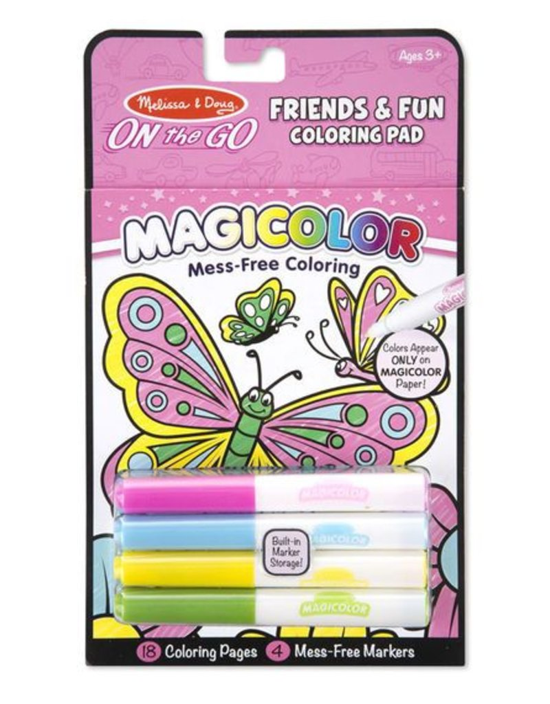 Melissa and Doug Friends & Fun No-Mess Coloring Pad