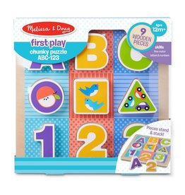 Melissa and Doug ABC - 123 Chunky Wooden Puzzle