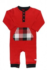 RuffleButts Red Plaid Holiday One Piece