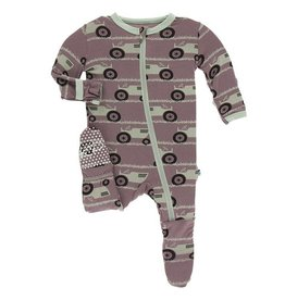 Kickee Pants Kickee Pants Raisin Tractor & Grass Footie
