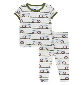 Kickee Pants Kickee Pants Tractor & Grass Short Sleeve PJ Set
