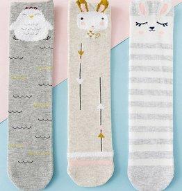 Baby Kiss Chicken Print Sock