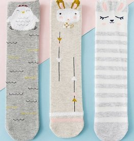 Baby Kiss Bunny Stripe Print Sock