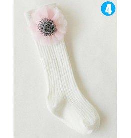Baby Kiss Knee High Embellished Flower Socks