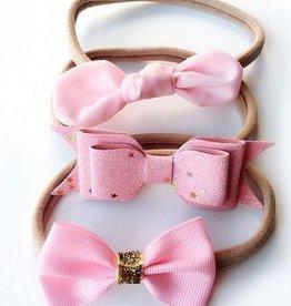 Baby Kiss 3-Pack Pink Headband Set