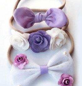 Baby Kiss 3-Pack Purple Headband Set
