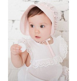 Baby Kiss Breathable Cotton Bonnet Pink