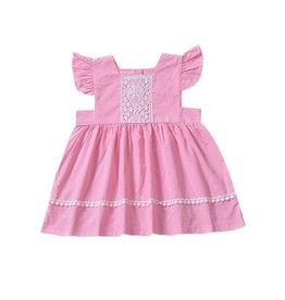 Baby Kiss Pink Babydoll Dress w/ Lace