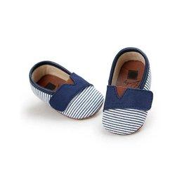 Baby Kiss Navy Velcro Canvas Shoe