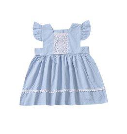 Baby Kiss Blue Babydoll Dress w/ Lace