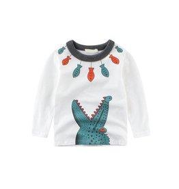 Baby Kiss Crocodile & Fishes Print LS Tee