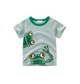 Baby Kiss Cotton Frog Print Tee