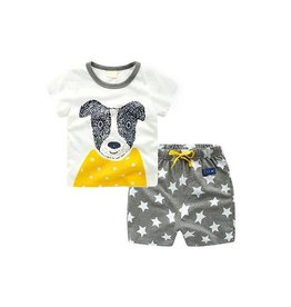 Baby Kiss Puppy Tee & Star Shorts Set