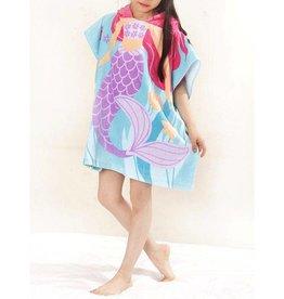 Baby Kiss Cartoon Mermaid Hooded Towel